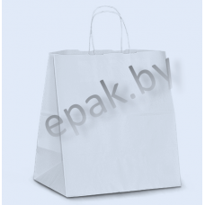 Пакет с ручками-шпагат белый 350*150*450
