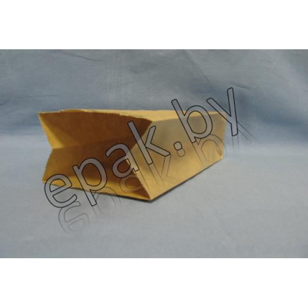 Крафт пакет бумажный  с прямоугольным дном 260*150*340