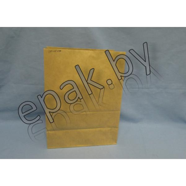 Крафт пакет бумажный  с прямоугольным дном 90*60*255