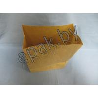 Крафт пакет бумажный  с прямоугольным дном 90*60*230