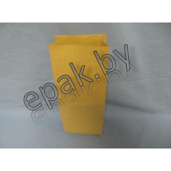 Крафт пакет бумажный  с прямоугольным дном 80*50*170