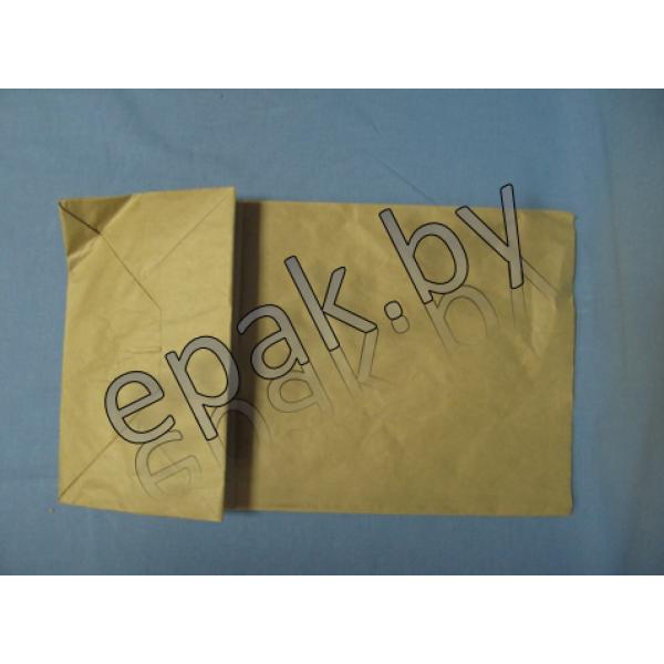 Крафт пакет бумажный  с прямоугольным дном 320*200*340
