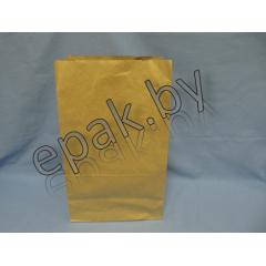 Крафт пакет бумажный  с прямоугольным дном 240*140*400
