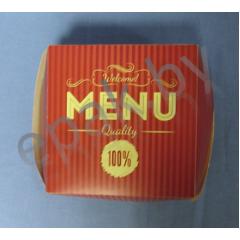 "Коробка для бургера 110*110*75 ""Menu"""