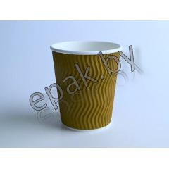 Бумажный гофрированный стакан  250 мл
