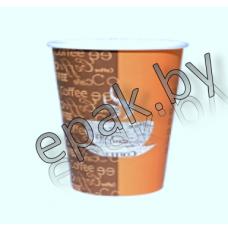 Бумажный стакан с серийным рисунком 400мл