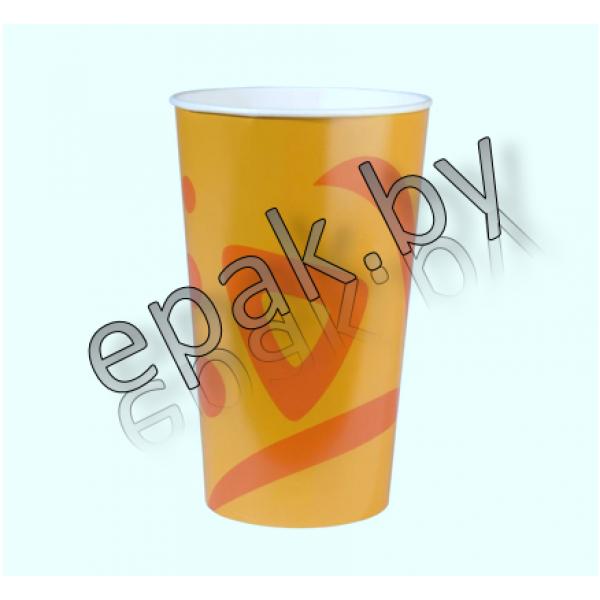 Бумажный стакан Солнце 400 мл