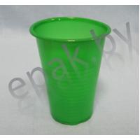 Стаканчик пластиковый зелёный, 200 мл