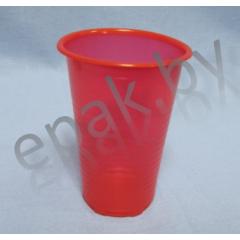 Стаканчик пластиковый  красный, 200 мл