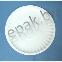 Бумажная круглая тарелка  180 мм